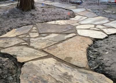 Flagstone-Path-in-progress