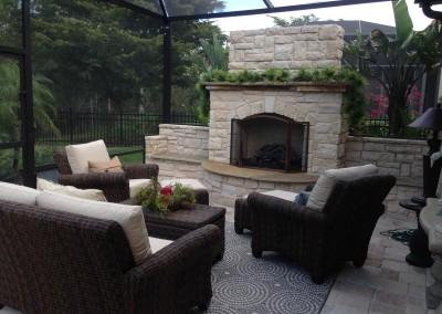 Outdoor-Fireplace-under-Lanai