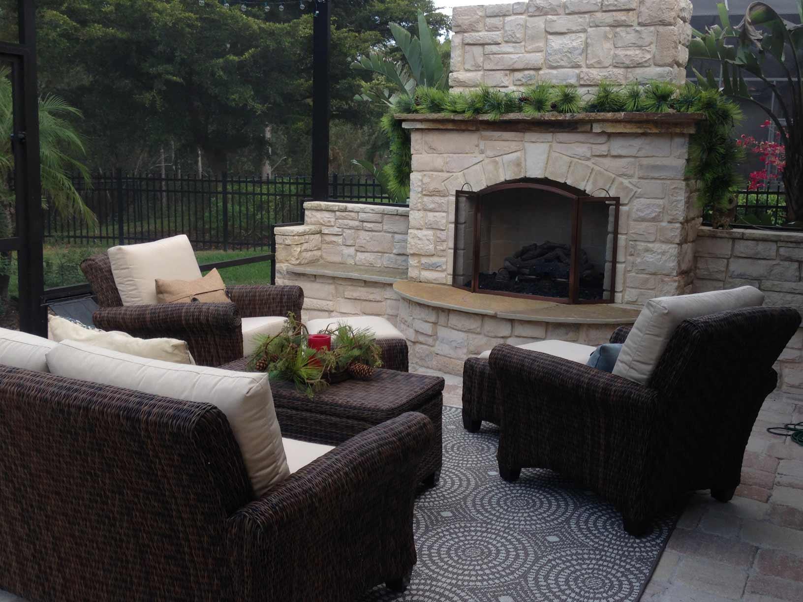Natural Functional Backyard Fireplaces